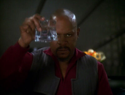 Sisko hält Toast