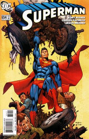 Cubierta para Superman # 654 (2006)