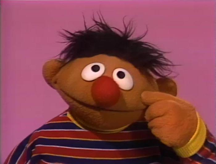 Ernie.nose Sesame Street Ernie Face