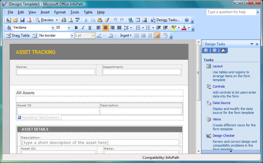 Save infopath form as