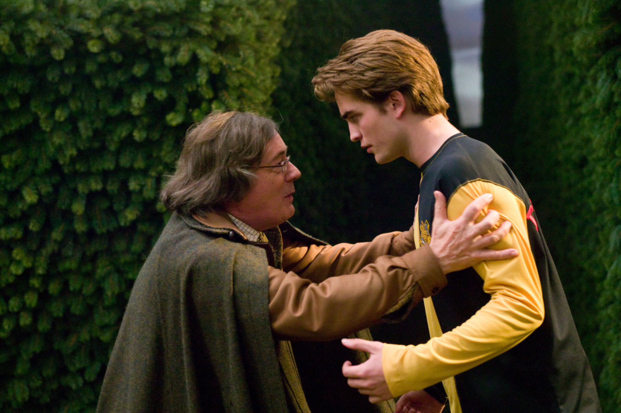 Harry Potter And The Goblet Of Fire Cedric Diggory Death Scene Amos wishing his son good luck