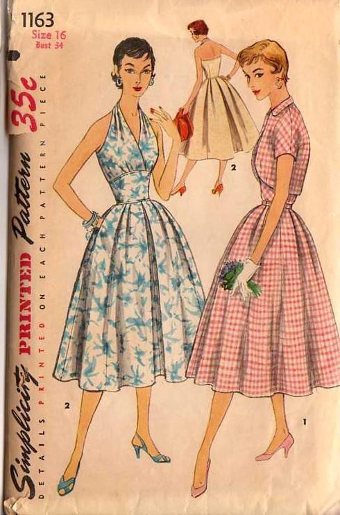 50s style halter dress patterns 1955 50s rockabilly retro
