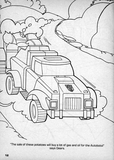 transformer gears coloring pages - photo#12