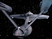 USS Enterprise, aft view