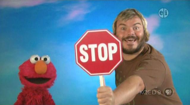 Muppets  Celebrity Jack Black Stop Sign