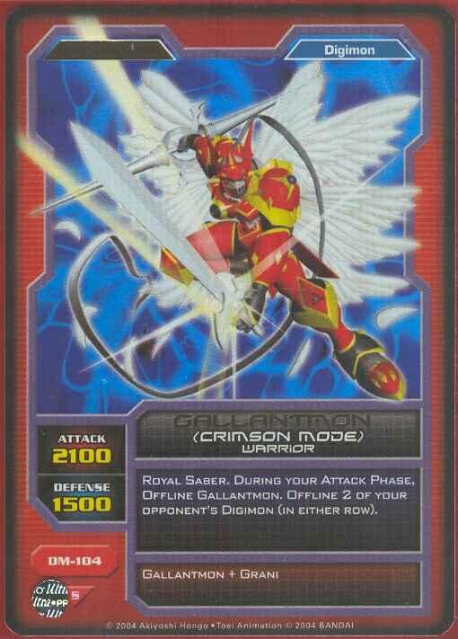 Gallantmon Crimson Mode Card