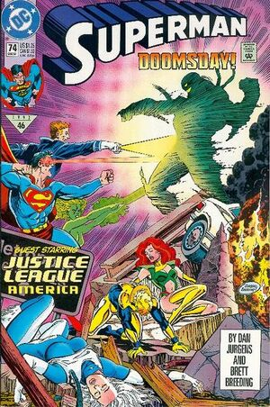 Cover for Superman #74 (1992)