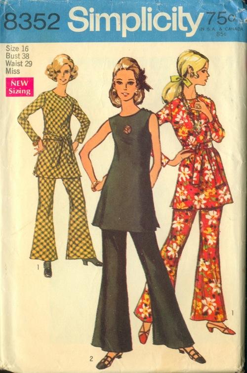 simplicity 8352 - vintage sewing patterns