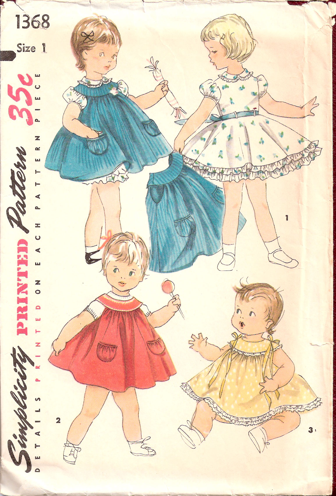 Simplicity 1368 Vintage Sewing Patterns