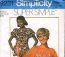 Simplicity 9231