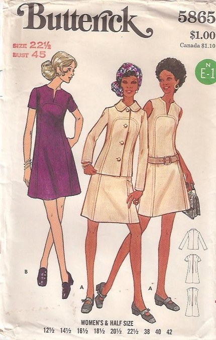 Butterick 5865 Vintage Sewing Patterns