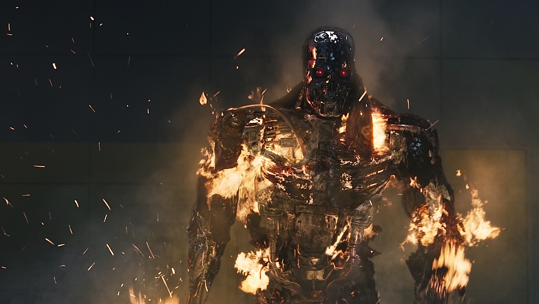 T 800 Terminator T-800 loses its flesh coating