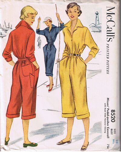 1950s pedal-pusher coverall pattern - McCall's 8520