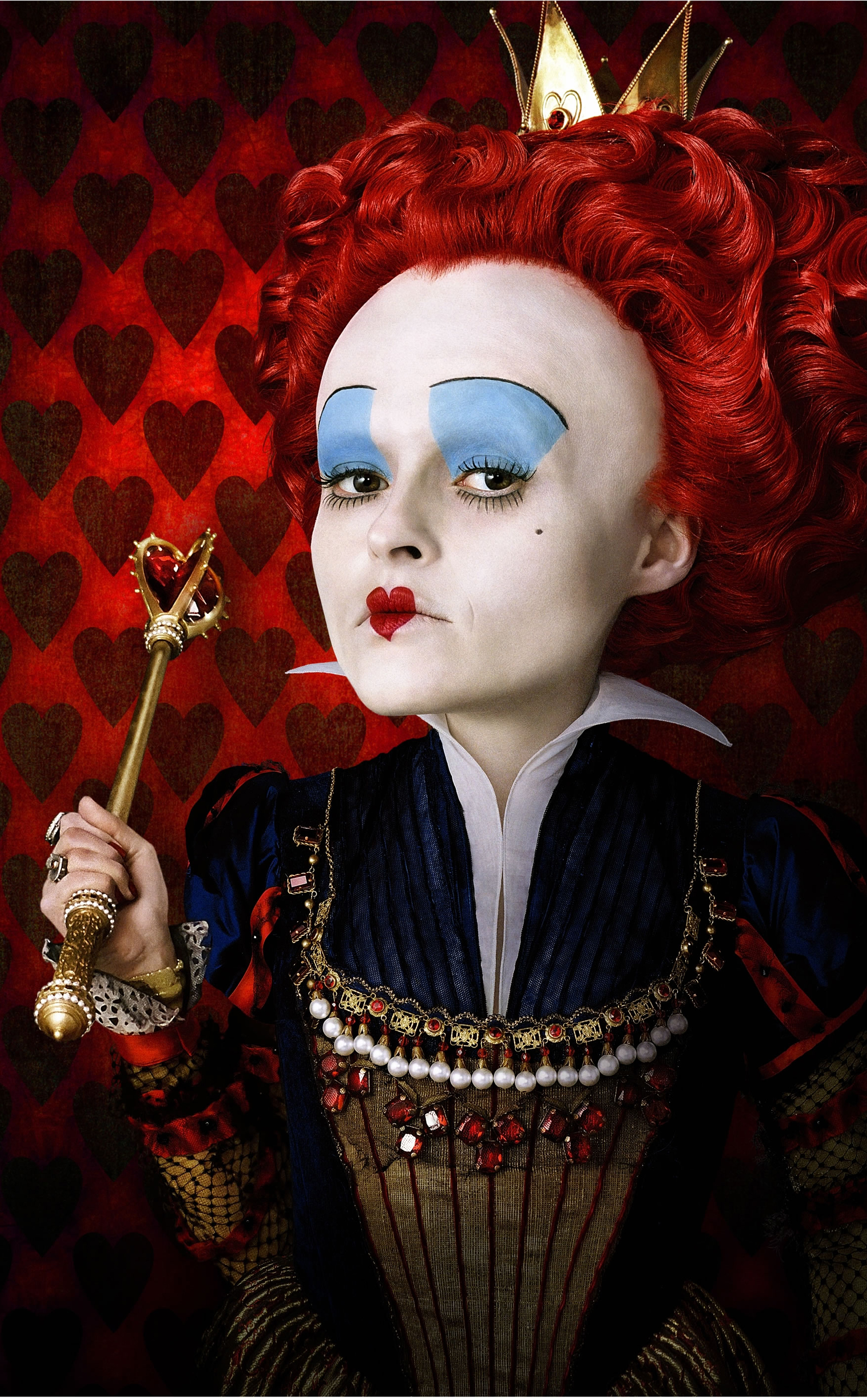 2010-Red-queenQueen Of Hearts Alice In Wonderland Tim Burton