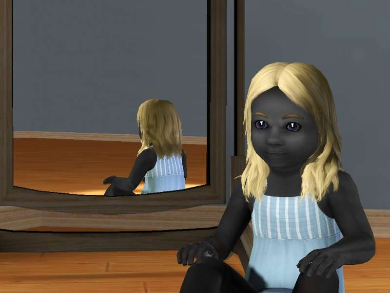 Grim toddler girl thesims3