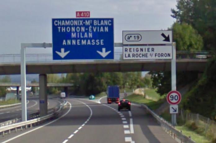 A410 autoroute for Salon la roche sur foron