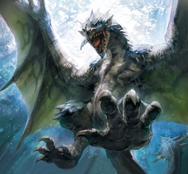 Azure Rathalos - Monster Hunter Wiki - Wikia