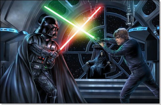 luke and vador fight