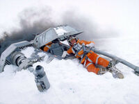Luke crashed snowspeeder