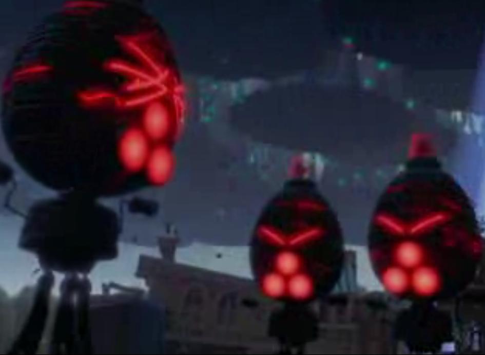 disney characters chicken little alien robots