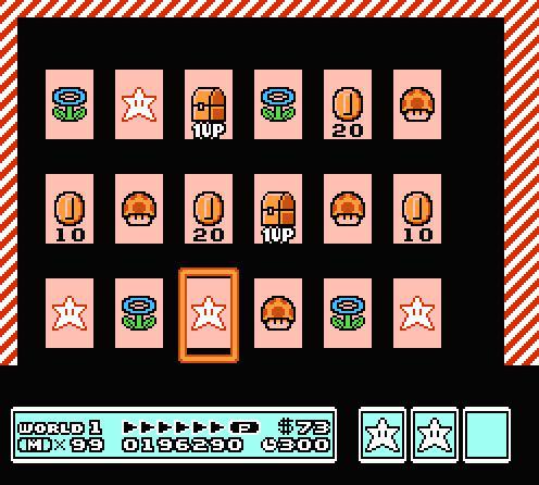 World 1 N Card Super Mario Bros 3
