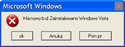 Windows Vista - błąd