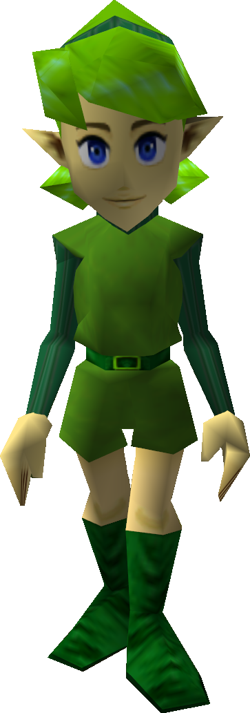 where is saria after you meet zelda