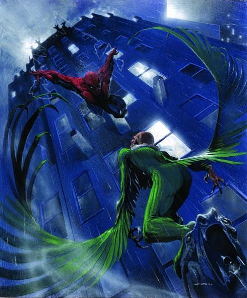 Spiderman Geier