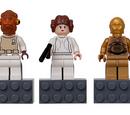 852843 Admiral Ackbar, Princess Leia, C-3PO Magnet Set