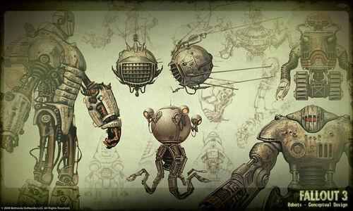 fallout 3 alien robots video clips