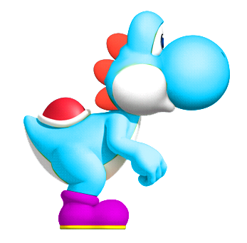 how to fly with blue yoshi