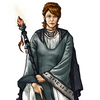 Image Human Mage Silver Female Potrait Png Wesnoth