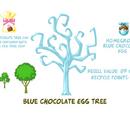 Blue Chocolate Egg Tree