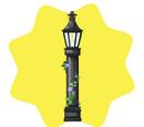 Elegant Black Lamp Post