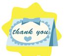Blue Thank-you Card