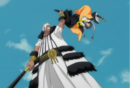 Baraggan grabs Soifon (anime).png