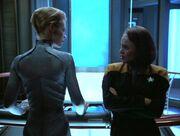 Seven und B'Elanna im Gespräch