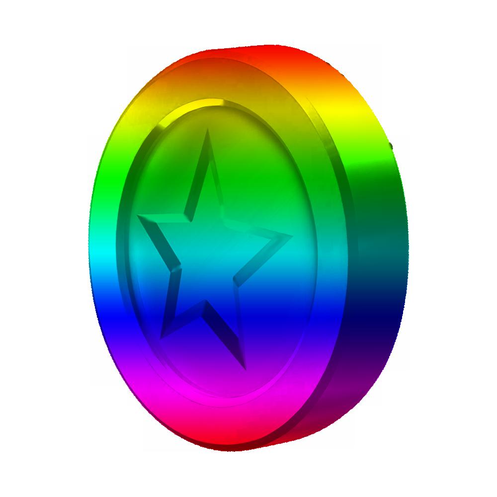 rainbow coins