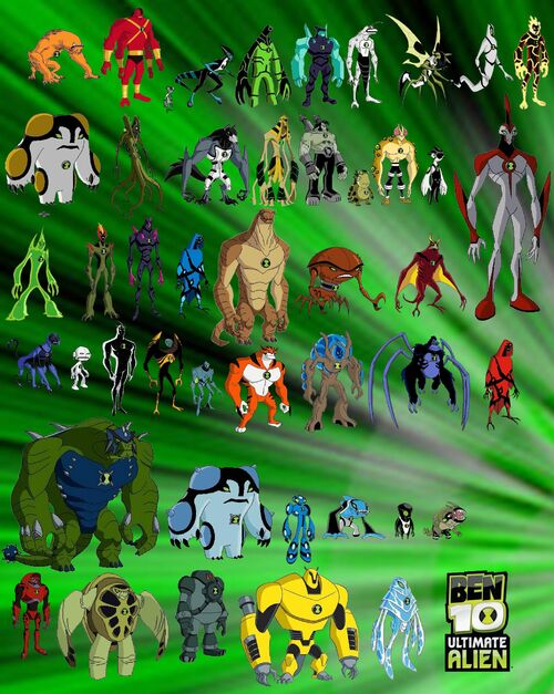 Ben 10 Omniverse vs Ben 10 Ultimate Alien Todos Los Aliens de Ben 10