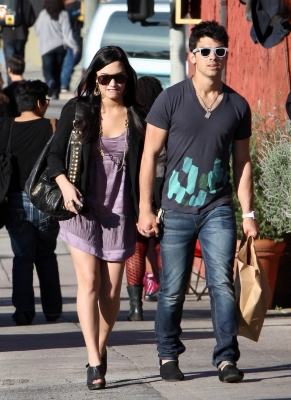 Image - Joe-jonas-and-girlfriend-demi-lovato-holding-hands ...