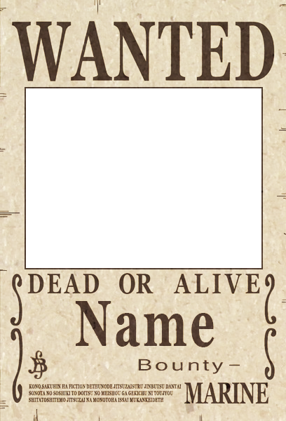 Image - One Piece Wanted Poster.png - OnePiece Fanon Wiki