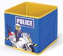 SD336blue Textile Toy Bin Police Blue