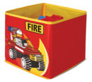 SD336red Textile Toy Bin Fire Red