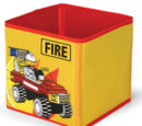 SD336yellow Textile Toy Bin Fire Yellow