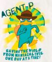 Agent P - Saving the world from maniacal evil one day at a time t-shirt.jpg