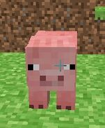 how to make a minecraft pig face