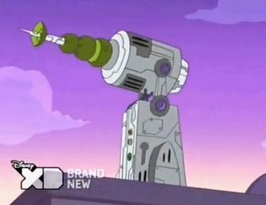 Phineas And Ferb Dr Doofenshmirtz Building Lunar Rotate-inator