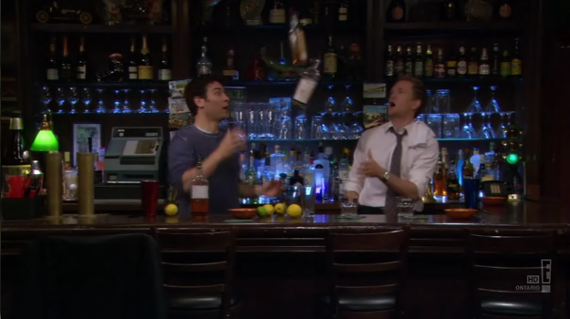 File:Three days of snow - ted and barney tend bar.png