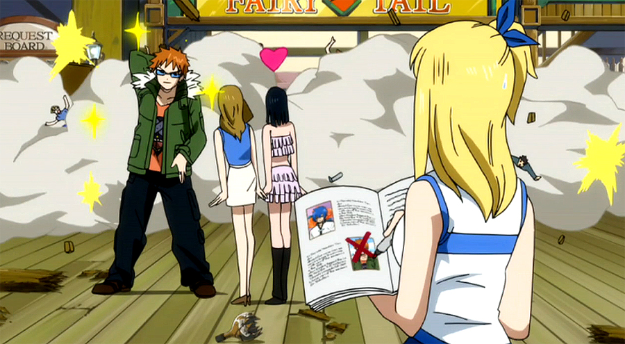 Loke is removed from Lucy s list of  quot Perfect Boyfriends quot Fairy Tail Lucy And Loke Kiss