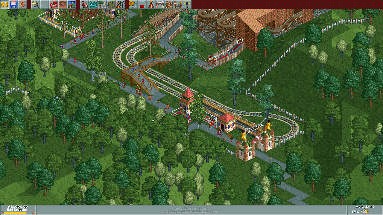 Patch Roller Coaster Landscape